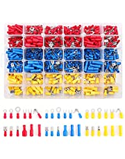 Flytuo 840PCS Insulated Wire Electrical Connectors-Mixed Butt Ring Fork Spade Bullet Quick Disconnect-Crimp Terminals Connectors Assortment Kit