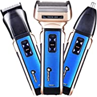 Mobestech Beard Trimmer kit USB Charging 3 in 1 Beard Trimmer Facial Trimmer Nose Hair Shaver for Eyebrow Beard Wet Dry Easy Cleaning