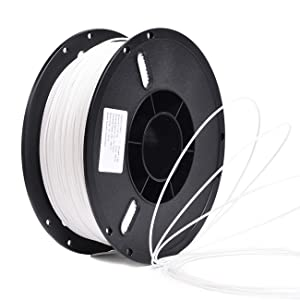 PETG 1.75mm 3D Printer Filament Printing Consumables Accessories with Balanced Mechanical Properties Stronger Heat Stability-1Kg Spool(Dimensional Accuracy +/- 0.03mm) Fit Most FDM Printer,White