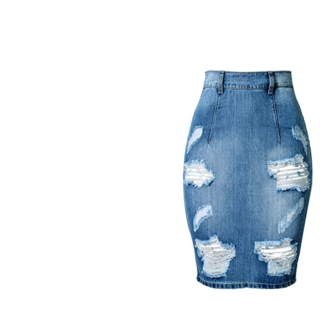 buy good offer discounts best cheap Erongeoneg Plus Size Jeans Skirt Women High Waist Jean Skirt ...