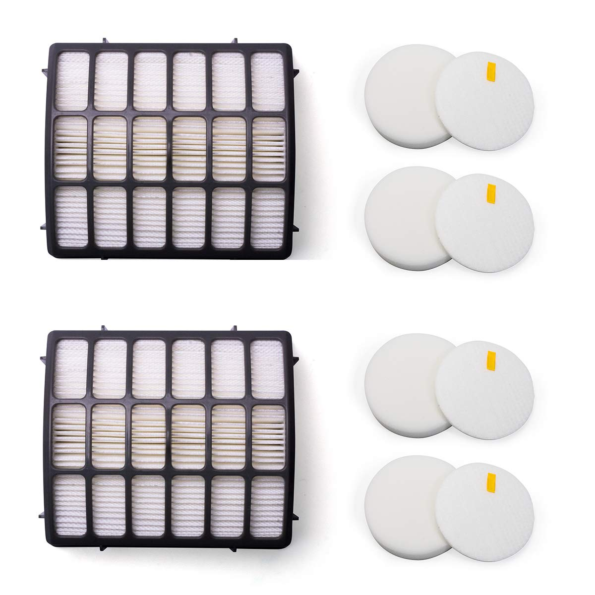B07X5S6858 Amyehouse Foam & Felt Hepa Filters Replacement Kit for Shark Navigator Professional Upright Vacuum NV70 NV71 NV80 NV90 NV95 NVC80C UV420,Part XHF80 & XFF80 61BOcjRu4oL