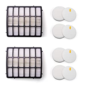 Amyehouse Foam & Felt Hepa Filters Replacement Kit for Shark Navigator Professional Upright Vacuum NV70 NV71 NV80 NV90 NV95 NVC80C UV420,Part XHF80 & XFF80
