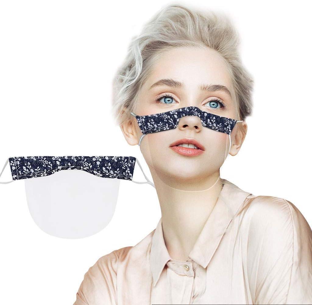 1PC Mund Nasen Visier transparent Gesichtsmaske Kunststoff Schutzvisier Neu