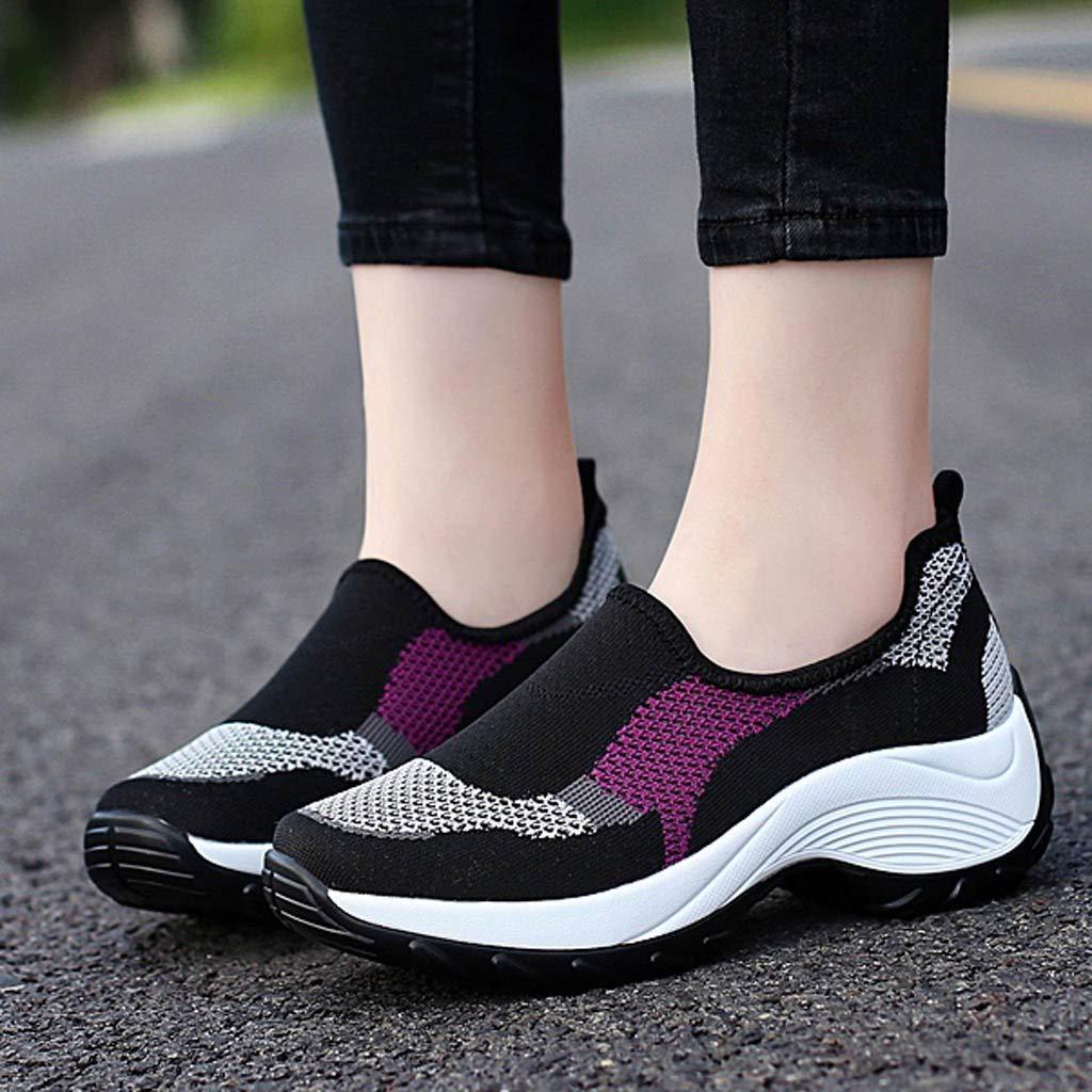 Femme Chaussures Baskets Running Sneakers De Danse Respirantes De Sport De Yoga Occasionnelles