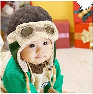 09b1da4667c Amazon.com  Cute Baby Beanie Hats for Boys Girls Cap Cotton Letter ...