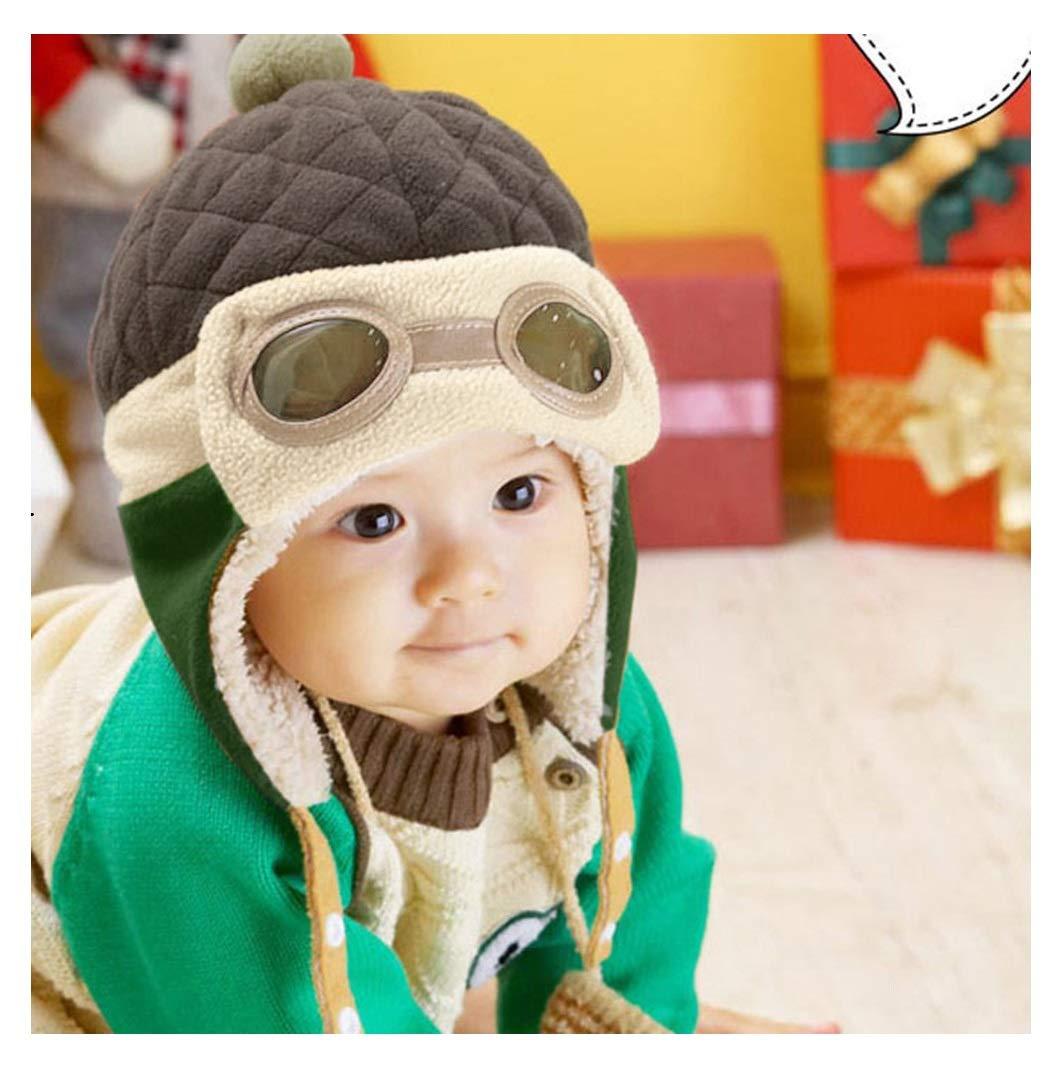 d4925e940ee Amazon.com  Fullkang Baby Boys Earflap Hat