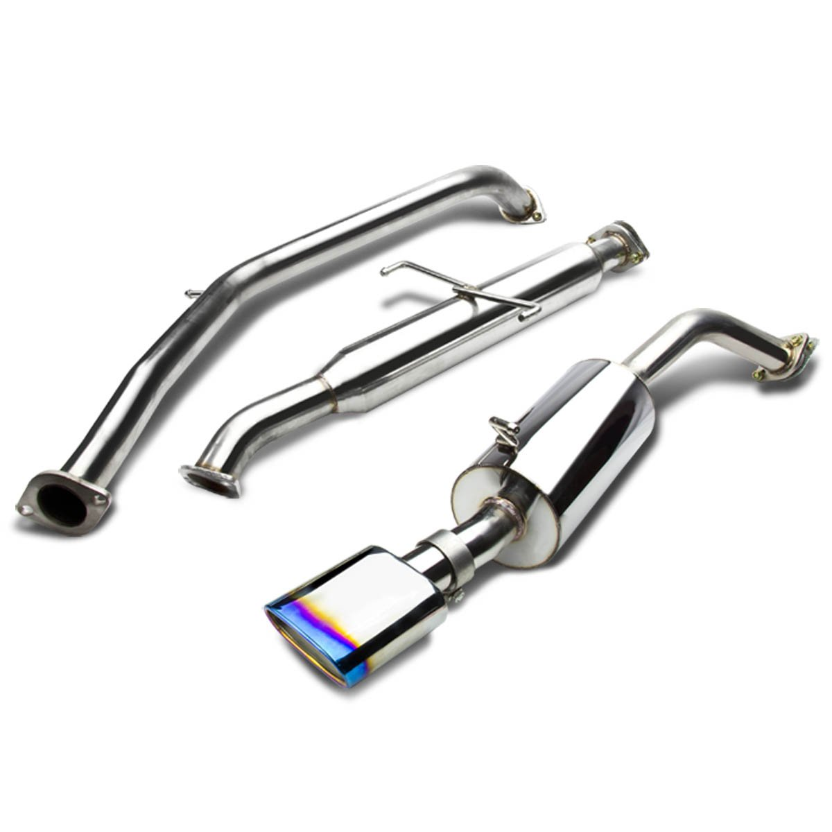 For 08-15 Scion xB Catback Exhaust System 5.5' Oval Tip muffler - t2B Auto Dynasty