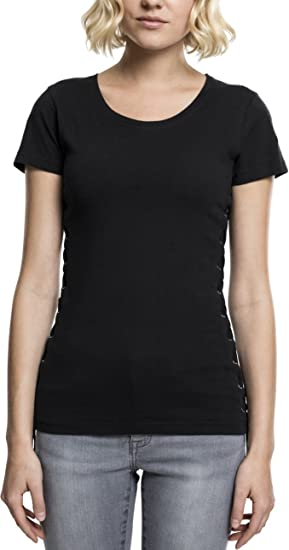 389a6592b901a Urban Classics Ladies Washed Laced Up Tee, T-Shirt Femme  Amazon.fr ...