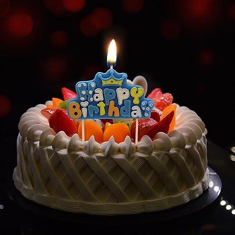 Amazoncom CFTech Birthday Cake Candles Cute Cartoon Handmade