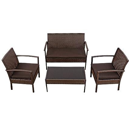 Amazon.com: EnjoyShop - Juego de 4 piezas de muebles de ...