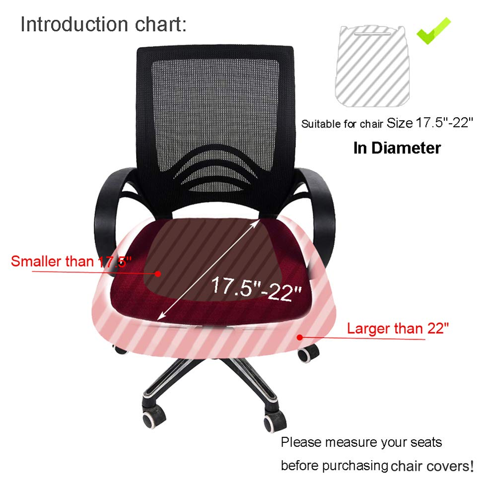 Smiry Stretch Spandex Jacquard Computer Office Chair Covers, Removable  Washable Anti Dust Desk Chair Seat Cushion ...