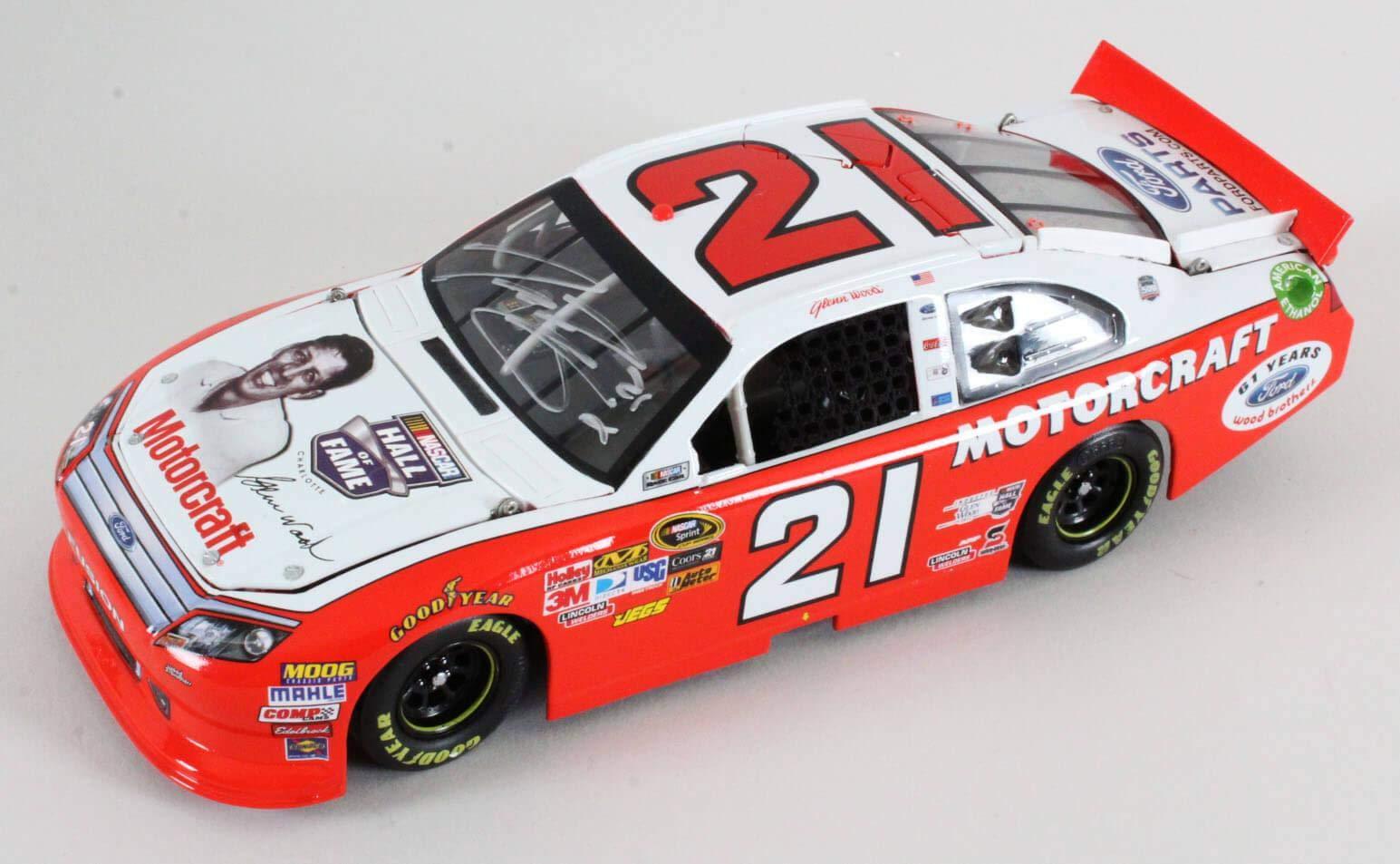 Trevor Bayne Signed Die Cast Car NASCAR COA JSA Certified Autographed Diecast Cars