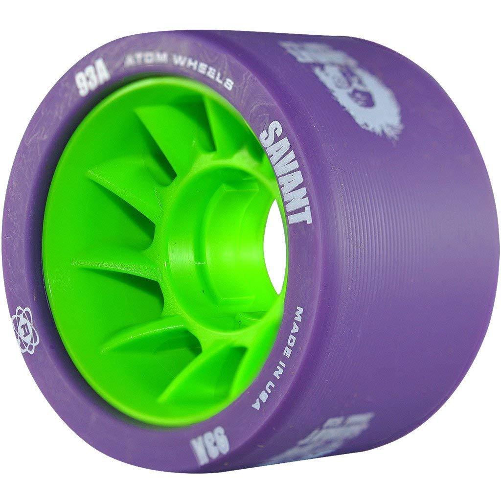 ATOM Savant Skate Wheels (Purple-93A 8 Pack) by ATOM