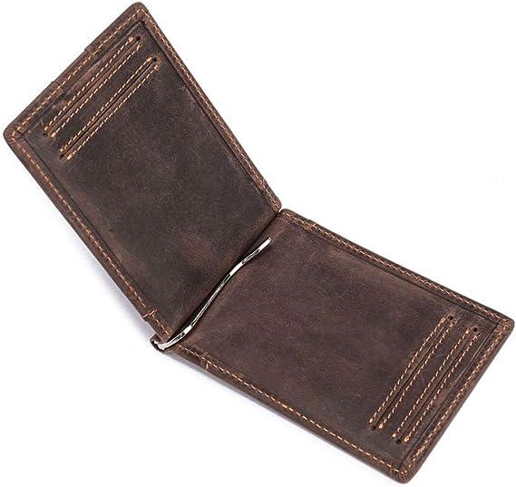 Herren Geldbörse Leder Geldbeutel Portemonnaie Hochformat Kreditkarte Wallet DE