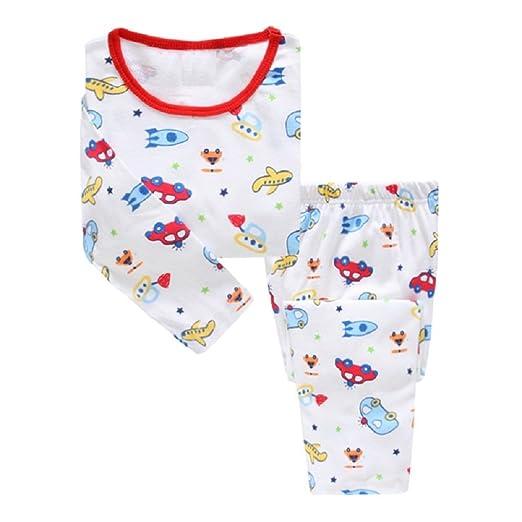 9f8f2d45f0 Hooyi Baby Boy Sleepwear Cotton Children Casual Pajamas Set Airplane Car  (2Year)
