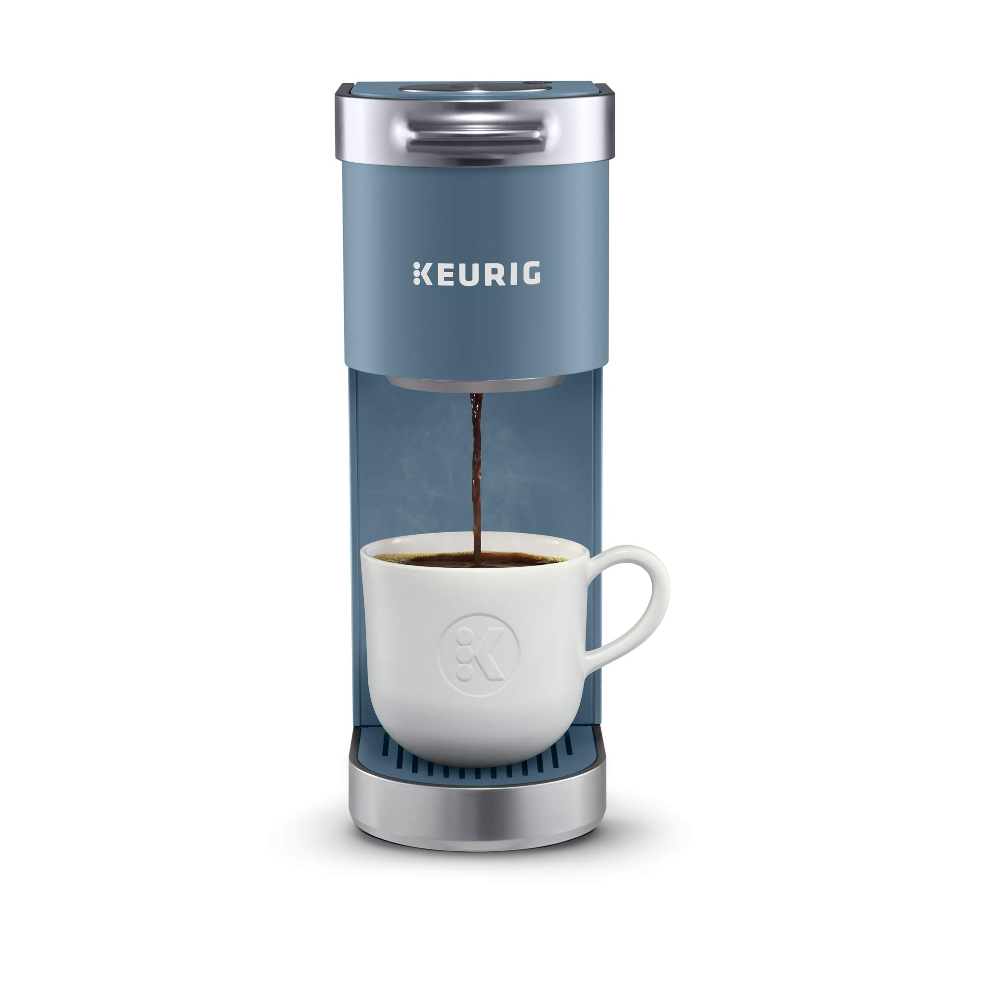 Keurig K-Mini Plus Coffee Maker, Single Serve K-Cup Pod Coffee Brewer, Comes With 6 To 12 Oz. Brew Size, K-Cup Pod Storage, And Travel Mug Friendly, Evening Teal by Keurig