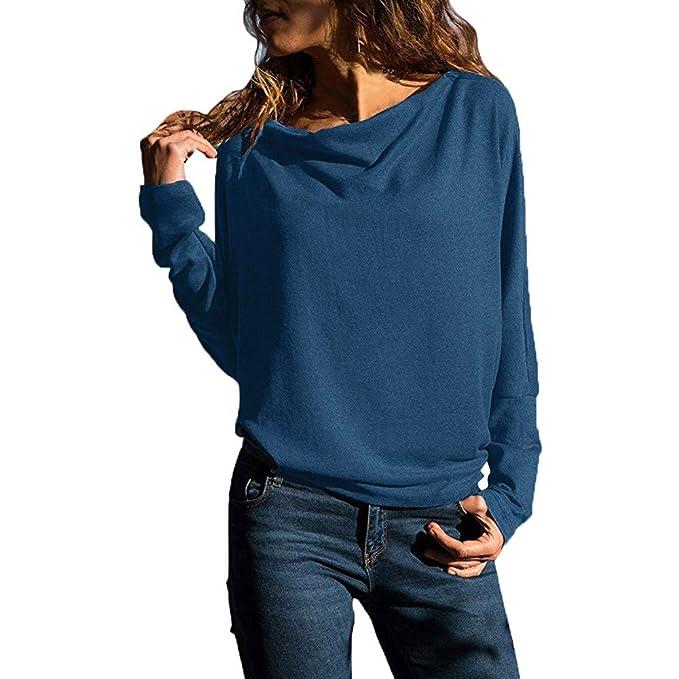 Mujer Sudaderas,TWBB Sudadera De Manga Larga para Mujer Camiseta Amplia Top: Amazon.es: Ropa y accesorios