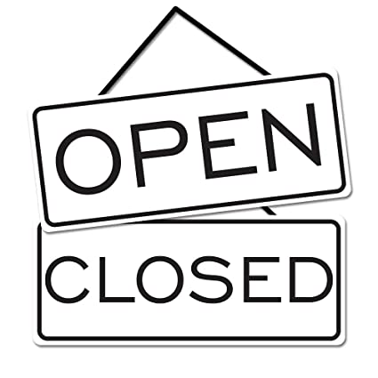 Cartel abierto cerrado de alta calidad: Amazon.es: Oficina y ...