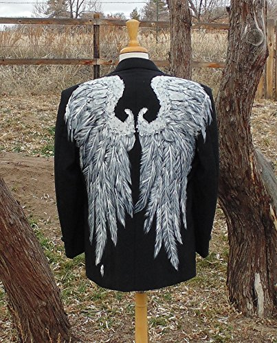 Men's Angel Wings Tux Jacket by Fru Fru and Feathers Costumes & Gifts