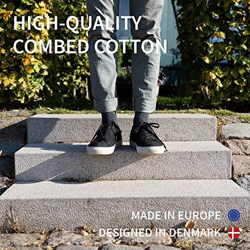 DANISH ENDURANCE Chaussettes en Coton pour Homme et Femme, Lot de 3 Paires, Respirantes, Douces et Fabriquées en Europe… 2