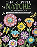 img - for Chalk-Style Nature Coloring Book: Color with All Types of Markers, Gel Pens & Colored Pencils book / textbook / text book