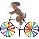 X-NOMIY 3D Animal Rainbow Spinner Windmill,Tiger Cat Dog On Bike Windmill for Patio Lawn Yard Garden Party Outdoor Stake Deco