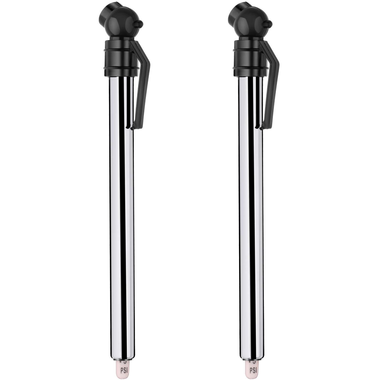 Hotop 2 Pack Tire Gauges Tire Pressure Gauges, Pencil Style (Black)