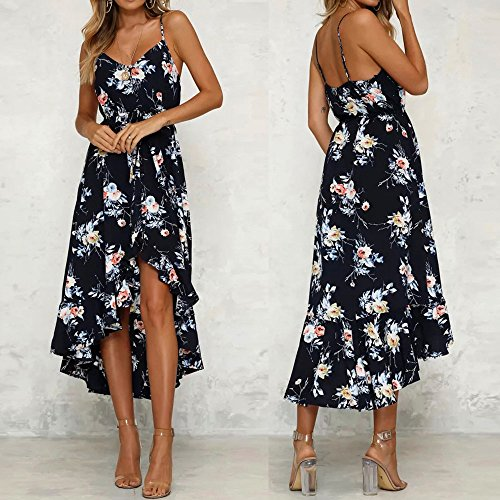 Sleeveless Lady Party Tops Chanyuhui Dress Prom Maxi Black Tunic Evening On Dresses Women Floral Split Flowy Sale YvvqO