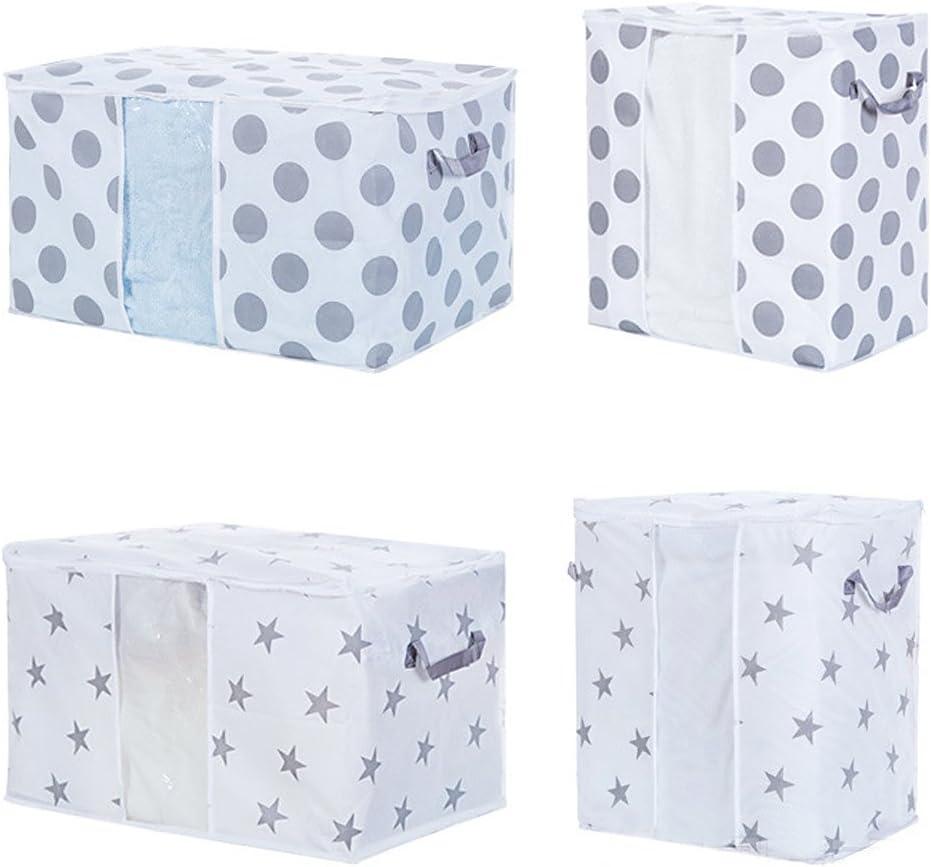 Star; 50/* 42/* 27/cm VANKER tela no tejida bolsa de colcha cama soporte sujetador de ropa interior caja de almacenamiento recipiente funda con cremallera