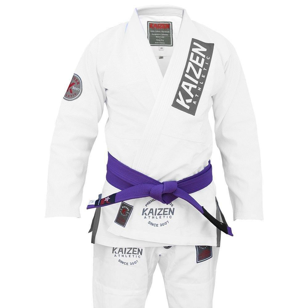 カイゼンAthletic Competitor Jiu Jitsu着物 – ホワイト B07KCV34ZX  A3L