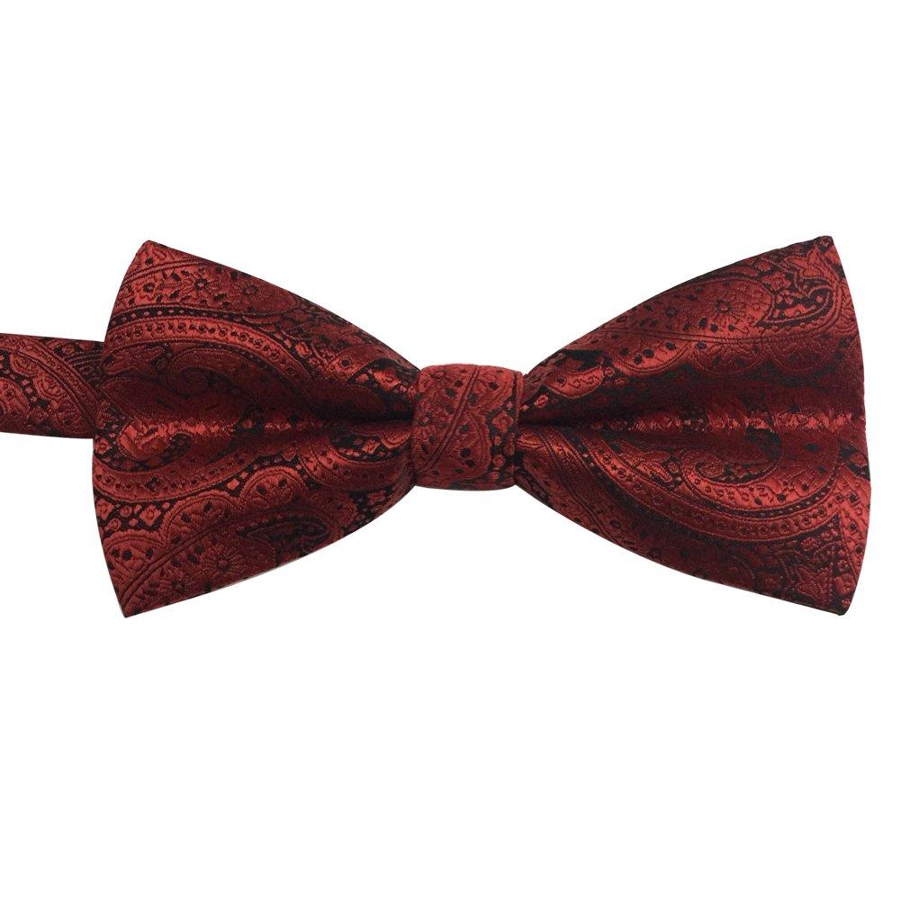 Mens Classic Pre-tied Formal Casual Adjustable Length Jacquard Fabric Tuxedo Bowtie Ties