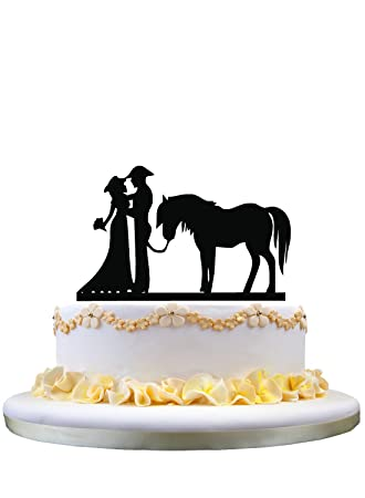 Western wedding cake topper with horse: Amazon.com: Grocery ...