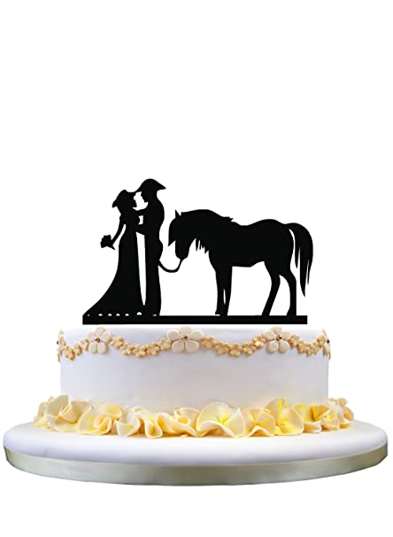 horse wedding cake toppers