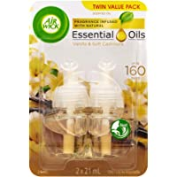 Air Wick Life Scents Electric Plug In Diffuser Vanilla & Soft Cashmere Plug Refill Twin Pack, 21ml