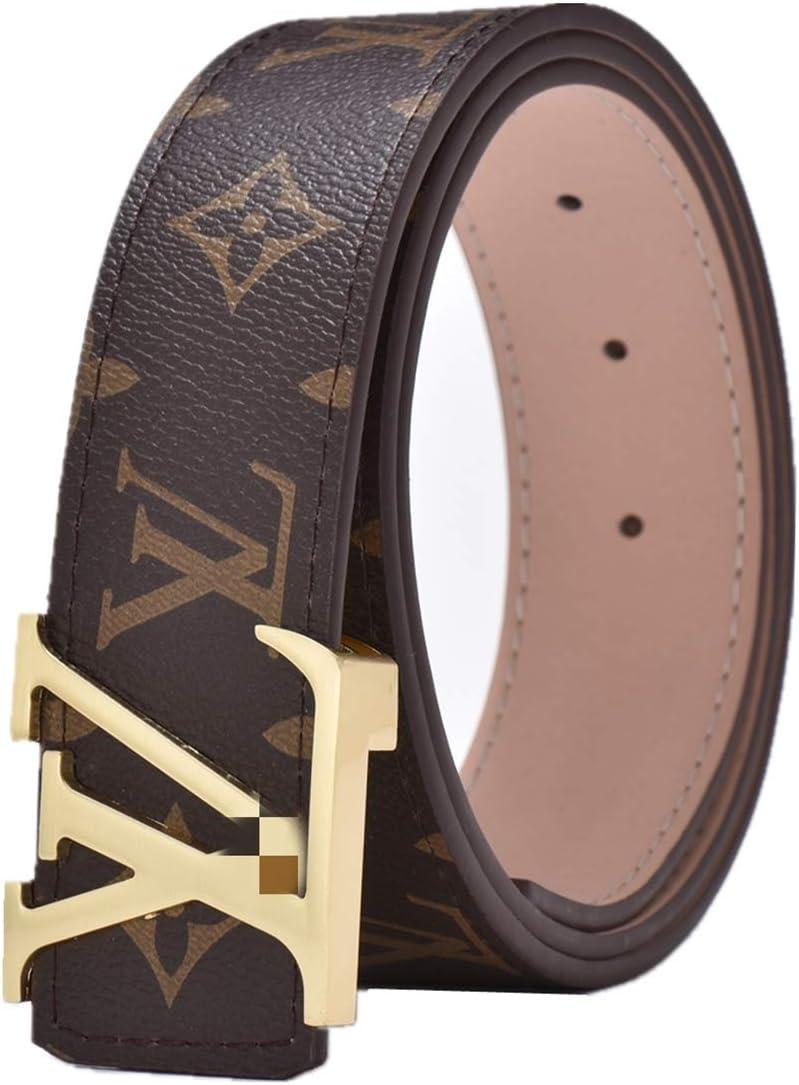 115cm V Belt Mens Belts Luxury Men Fashion Belt Mens Fashion Casual Belt Brown 34-36 Gold
