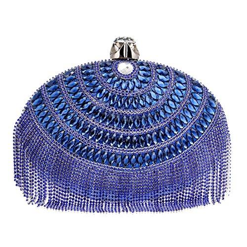 color De Del Los Borlas Mujeres Crossbody Bolsos Blue Noche Las Houyazhan Bolso Lujo Embragues 5qF7vwWz