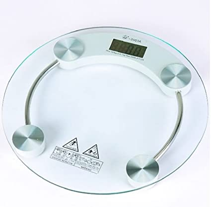 21b3071820 Venus Thick Tempered Glass Body Round Digital Weighing Scale (Transparent)   Amazon.in  Health   Personal Care