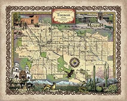 graphic relating to Printable Map of Tucson Az named : Exceptional River Arts Tuscon Arizona Tucson Map Wall