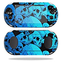 MightySkins Protective Vinyl Skin Decal for Sony PS Vita (Wi-Fi 2nd Gen) wrap cover sticker skins Blue Skulls
