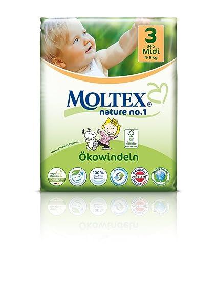 136 pcs MOLTEX Nature No1 diseño de Snoopy funda de almohada de pañales MIDI GR 3