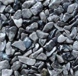 Safe & Non-Toxic {0.12'' to 0.38'' Inch} 3 Pound Bag of Marble, Gravel & Pebbles Decor for Freshwater Aquarium w/ Natural Sleek Modern Shimmering Earthy Toned River Inspired Style [Gray]