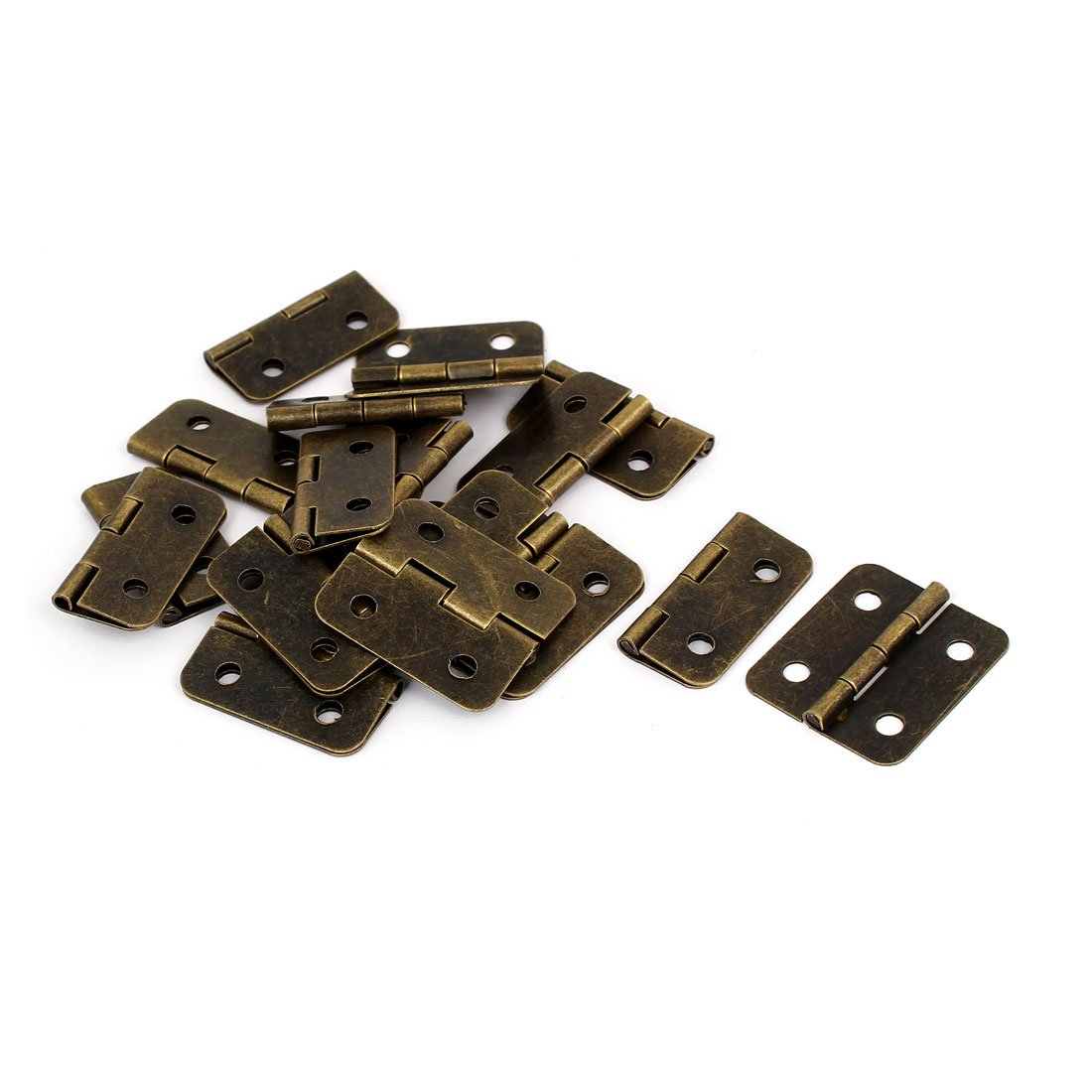 uxcell Box Toolbox Drawer 1.2 Inch Length Metal Foldable Butt Hinges Bronze Tone 20PCS by uxcell