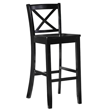 Amazoncom Linon Home Decor Black Finished X Back 30 Inch Bar Stool