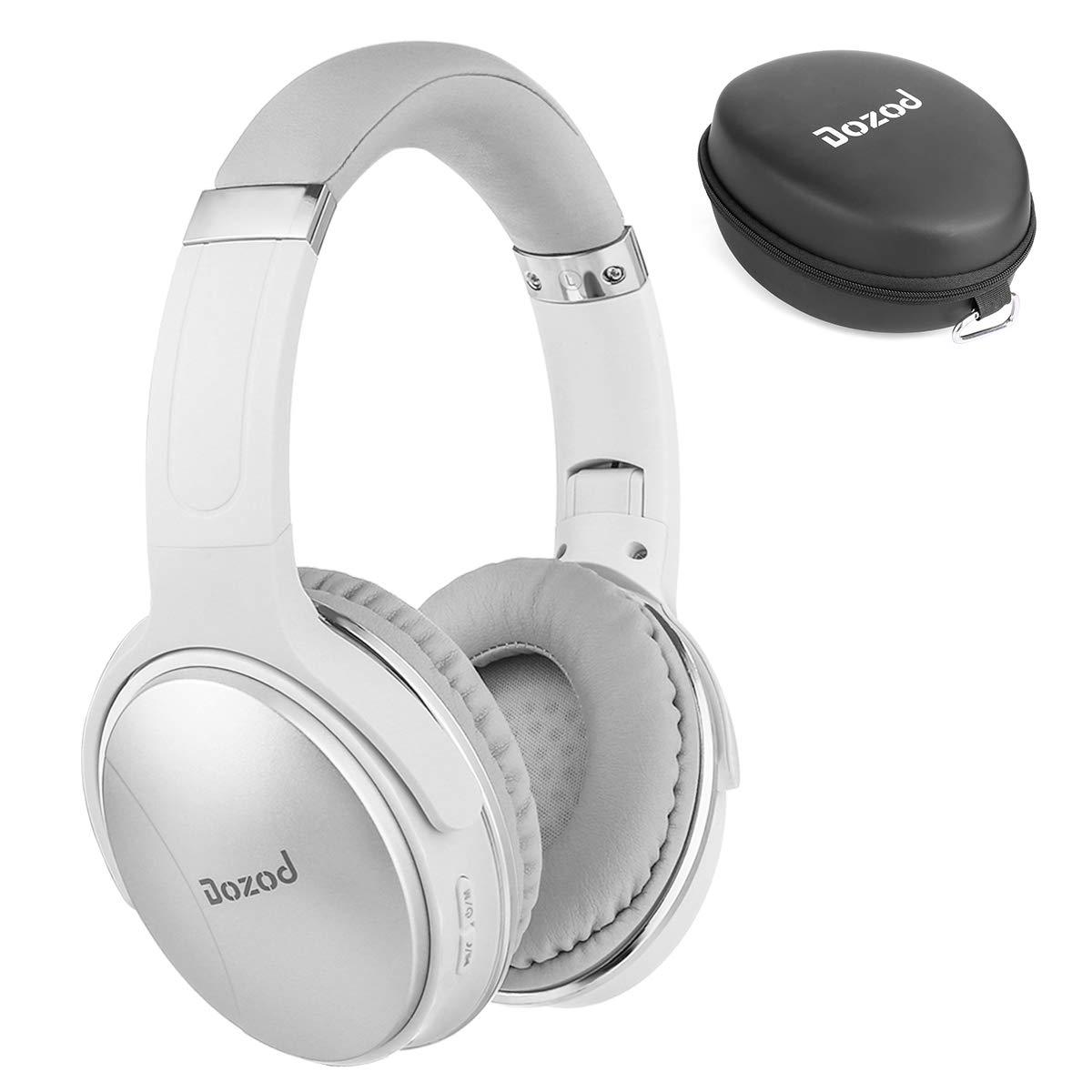 Bluetooth Over Ear Headphones, Dozod Foldable Wireless Hi-Fi Stereo Headset with Mic, Rechargeable Bluetooth and Wired Headphones for TV/PC/Cell Phones