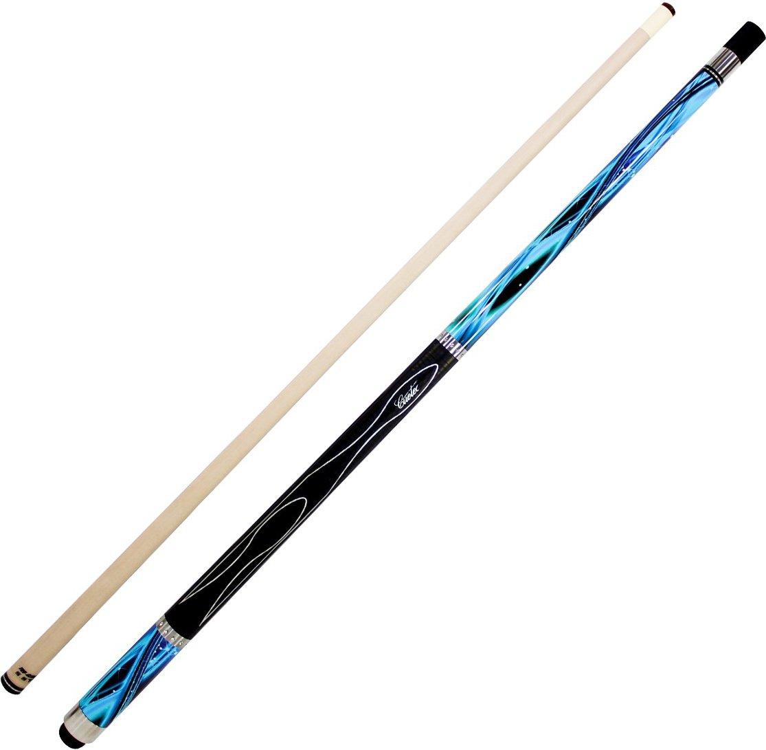 Cuetec Gen-Tek Series 58'' 2-Piece Canadian Maple Billiard/Pool Cue, Blue Wave