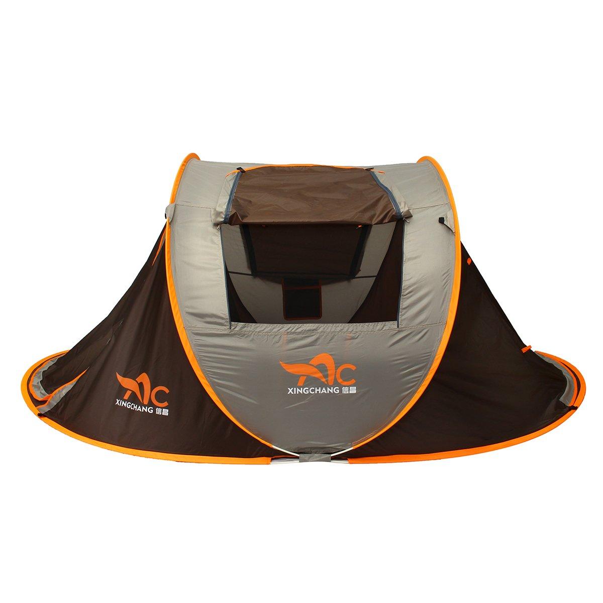 Plat Firm Outdoor 3-4 Personen Camping Zelt Automatisch Offen regenfest einlagig Sonnenschutz