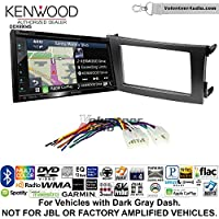 Volunteer Audio Kenwood Excelon DNX694S Double Din Radio Install Kit with GPS Navigation System Android Auto Apple CarPlay Fits 2009-2013 Non Amplified Toyota Corolla (Dark Gray)