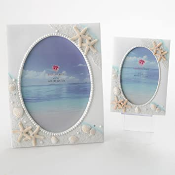 Amazoncom Beach Sea Ocean Shell Themed Picture Frames Set Of 2