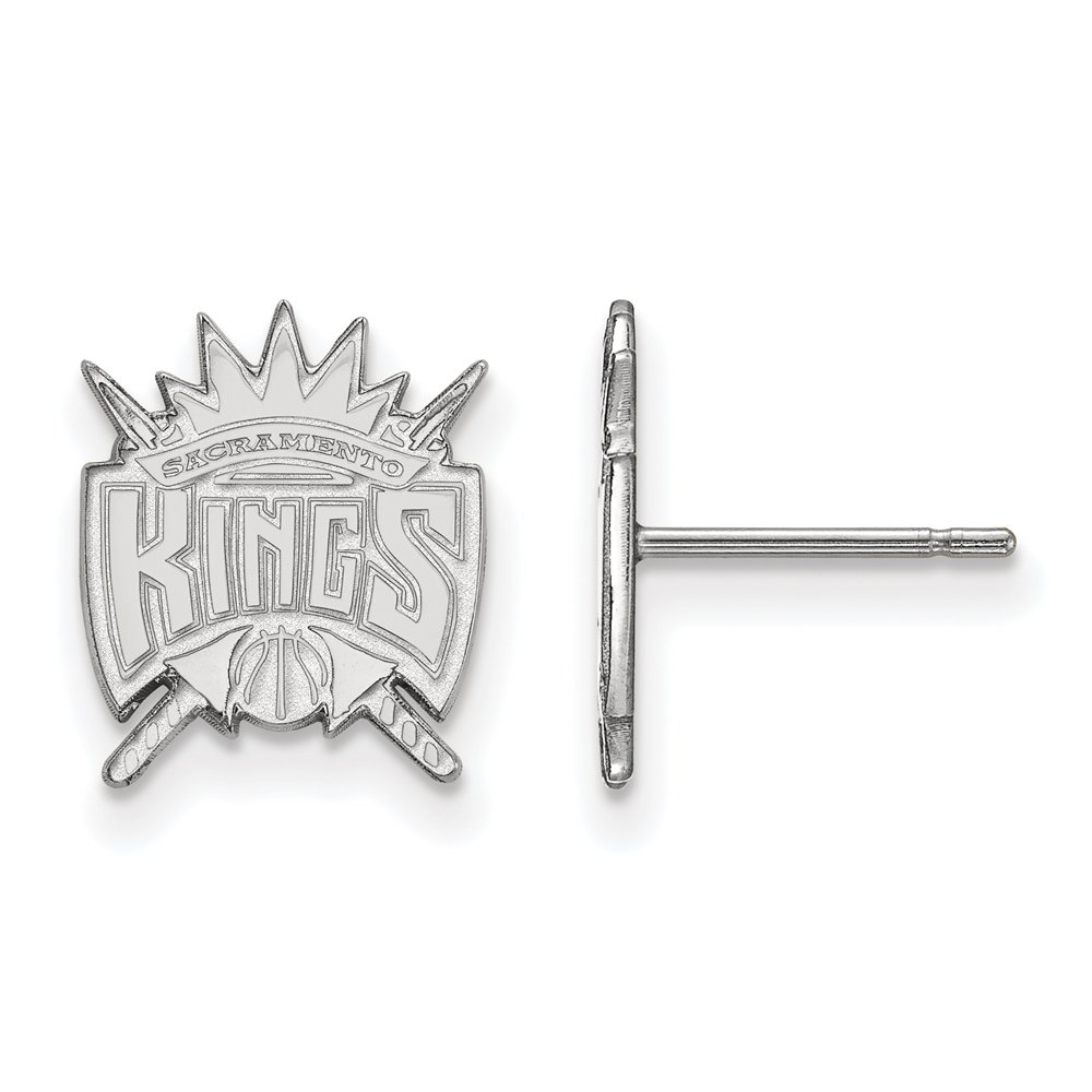 NBA Sacramento Kings Post Earrings in 10K White Gold