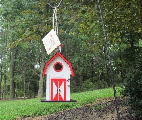 Home Bazaar Little Hanging (White The Little Barn Birdhouse)